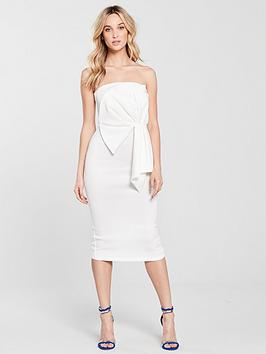 miss-selfridge-fan-bandeau-midi-dress-ivory