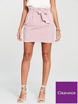 miss-selfridge-paperbag-skirt-dusky-pink