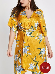 ri-plus-kimono-knot-front-dress-yellow-print
