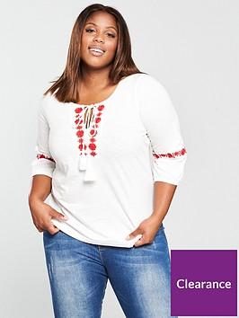junarose-sachanbspthree-quarter-sleeve-embroidered-blouse-snow-white