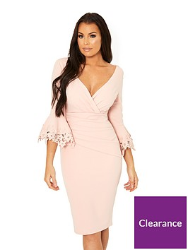 jessica-wright-trixey-fluted-sleeve-ruched-front-bodycon-dress-nude