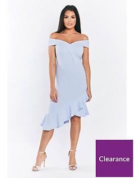 jessica-wright-rona-bardot-dress-with-asymmetricalnbsphem-pale-blue
