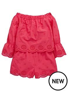 848edee4bb0 V by Very Girls Pink Bardot Playsuit
