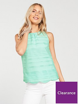 oasis-grid-stripe-shell-top-teal-green
