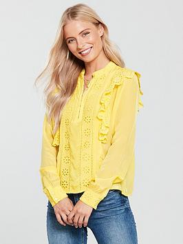 maison-scotch-embroidered-ruffle-blouse