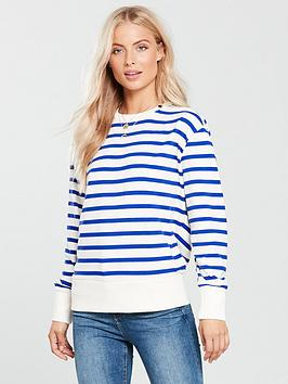 maison-scotch-tie-back-stripe-jumper