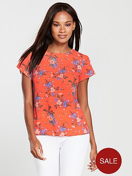 oasis-provence-petal-sleeve-t-shirt-orange