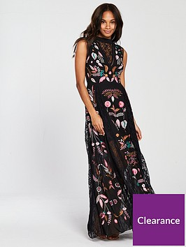 frock-and-frill-sleeveless-embroidered-maxi-dress-black