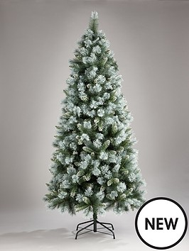 7ft-blue-green-cashmere-christmas-tree-with-white-frosted-tips