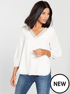 wallis-trim-sleeve-top
