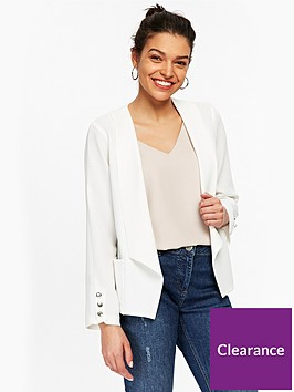 wallis-petite-daisy-button-sleeve-jacket