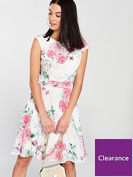 wallis-garden-floral-fit-amp-flare-dress-ivorynbsp