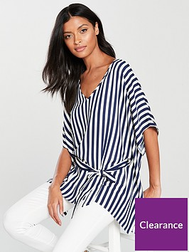 wallis-stripe-eyelet-kaftan-top