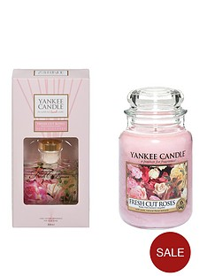 yankee-candle-fresh-cut-roses-large-jar-candle-and-reed-diffuser-set