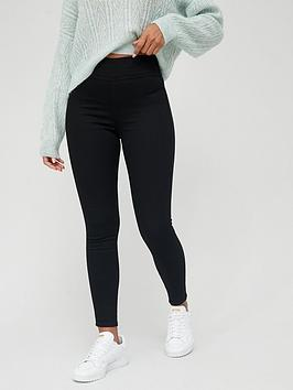 V by Very V By Very Short High Waist Jegging - Black Picture