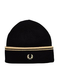 fred-perry-fred-perry-twin-tipped-merino-wool-beanie