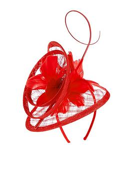 accessorize-swirl-feather-quill-fascinator-red