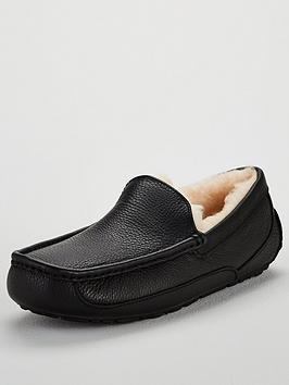 Ugg Ugg Ascot Leather Slipper - Black Picture