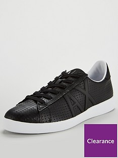 armani-exchange-punched-leather-trainer