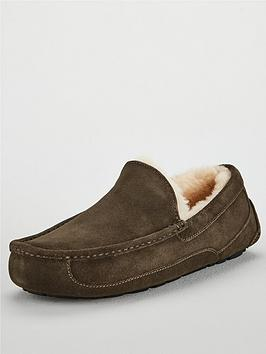 Ugg Ugg Ascot Suede Slippers - Charcoal Picture