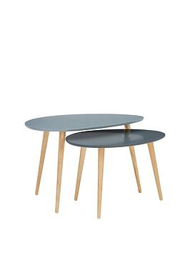 Very Orla Retro Set Of 2 Coffee Tables Picture