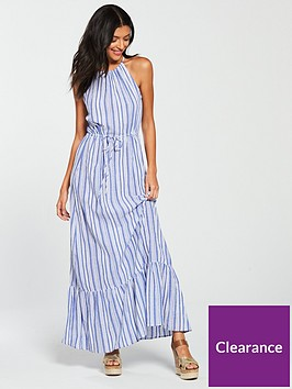 warehouse-stripe-maxi-dress-blue