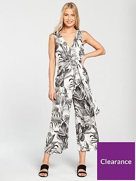 warehouse-jungle-print-jumpsuit-whiteblack