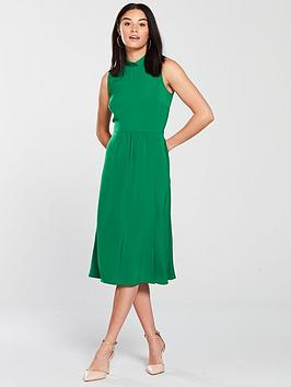 warehouse-tie-back-midi-dress-green