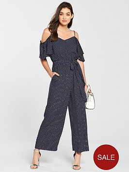 warehouse-cold-shoulder-jumpsuit-blue