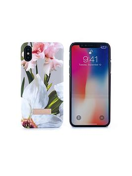 ted-baker-sid-soft-feel-hard-shell-for-iphone-x--nbspchatsworth-bloom-mid-grey