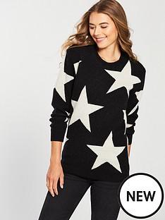 replay-star-long-knitwear-black