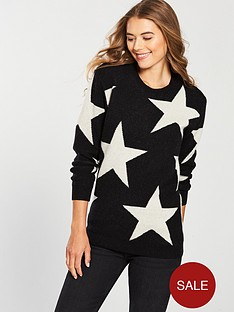 replay-star-long-knitwear-black