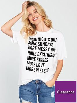 replay-more-slogan-t-shirt-optical-white