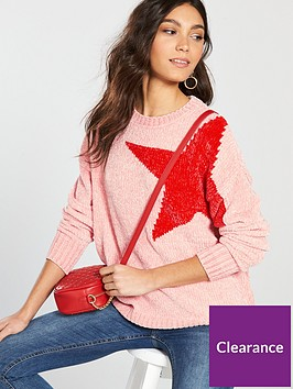 v-by-very-chenille-star-jumper-pink