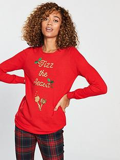 v-by-very-fizz-the-season-sequin-longlinenbspchristmas-jumper-red