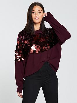 v-by-very-sequin-embellished-jumper-purple