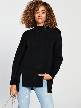 v-by-very-split-seam-longline-jumper-blacknbsp