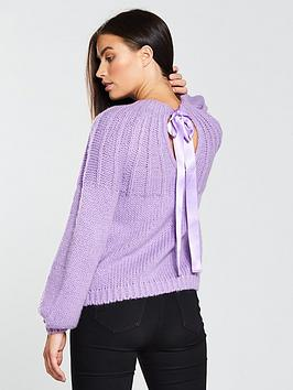 v-by-very-open-bow-back-jumper-lilac
