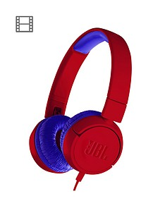 jbl-jbl-junior-wired-lightweight-portable-headphones-with-safe-volume-limiter-ndash-spider-red