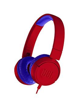 jbl-jbl-junior-wired-lightweight-portable-headphones-with-safe-volume-limiter-ndash-spider-red