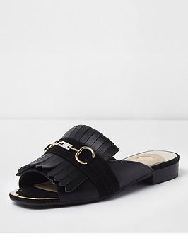 river-island-fringe-detail-peep-toe-backless-loafer-black