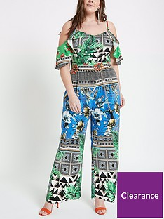 ri-plus-tropical-print-jumpsuit-multi