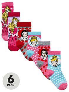 disney-princess-princess-6-pack-girls-socks