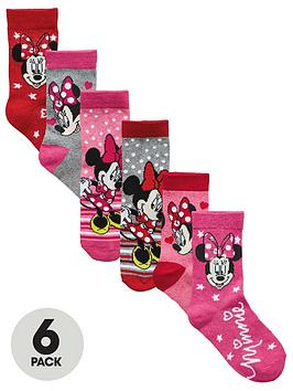 minnie-mouse-6-pk-girls-socks