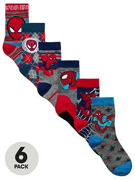 spiderman-spider-man-6-pack-socks