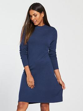 v-by-very-high-crew-neck-fit-and-flare-knitted-dress