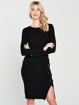 v-by-very-skinny-rib-button-side-knitted-midi-dress-blacknbsp