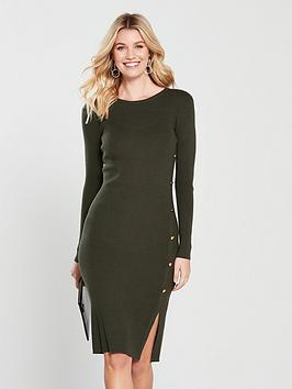 v-by-very-skinny-rib-button-side-knitted-midi-dress-khakinbsp