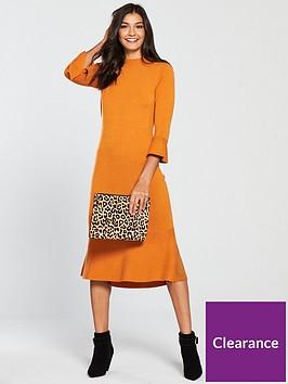 v-by-very-skinny-rib-fluted-hem-and-sleeve-knitted-dress-spicy-orange
