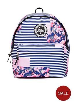 hype-floral-stripe-backpack